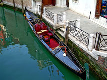 Gondola in Venice. Picture of the gondola in channel in Venice, Italy Royalty Free Stock Photography