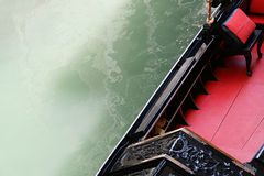 Gondola in Venice canal. Detail Royalty Free Stock Photography