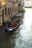 Gondola on Venice Canal Stock Image