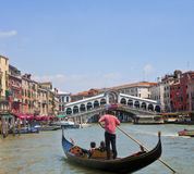Gondola in Venice Canal Stock Photography