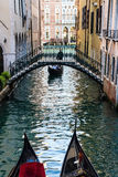 Gondola in Venice canal calle Royalty Free Stock Images
