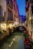 Gondola on Venice Canal Stock Photos