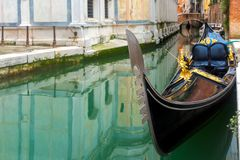 Gondola in Venice canal, Italia Stock Image