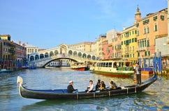 Gondola in Venice canal, Italy Royalty Free Stock Image