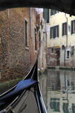 Gondola in Venice canal. Italy. Stock Photography