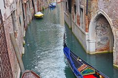 Gondola on venice channel Stock Image