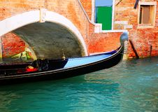 Gondola in the Venice, Italy Stock Images