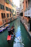 Canal cityscape in Venice. Gondola in the Venice, Italy Royalty Free Stock Image