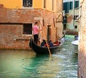 Gondola in the Venice, Italy.  Stock Photos