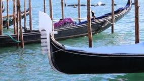 Gondola in Venice Italy stock video