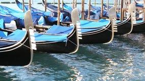 Gondola in Venice Italy stock footage