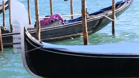 Gondola in Venice Italy stock video footage