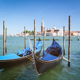 Gondola in Venice by Summer stock photo