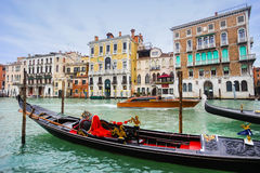 Gondola in Venice water canal Royalty Free Stock Image