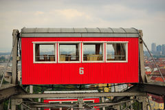 GONDOLA OF THE VIENNA PRATER WHEEL Stock Images