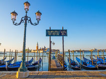 Gondola View in venice early morning Stock Images