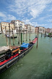 The Gondola. The views from the Venetian channels Stock Photos