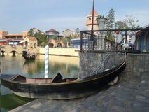 Gondola w kanale Zdjęcia Royalty Free