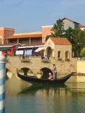 Gondola w kanale Fotografia Royalty Free