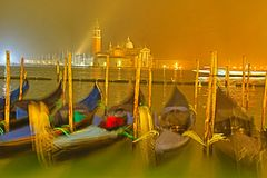 Gondola w Wenecja; San Giorgio Maggioreï¼ ›venice fotografia royalty free