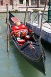 Gondola waiting tourists stock image