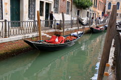 Gondola on water in canal in Venice, Italy Royalty Free Stock Image