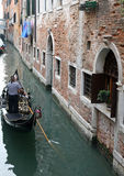 Gondola on the water channel Stock Images