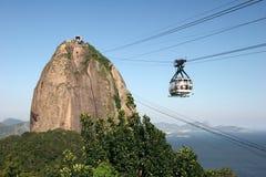 Gondola on the way. Of transport destination. Rio de Janeiro. Brazil royalty free stock photo