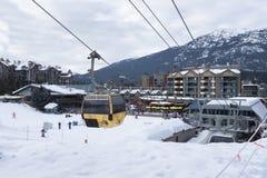 Gondola at Whistler Village, Whistler, BC stock photos