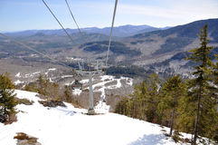 Gondola on Whiteface Mountain Ski Area,Adirondacks Royalty Free Stock Photography
