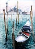 Gondola in winter Royalty Free Stock Image