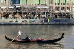 Gondola tour on river in Melbourne city Stock Photos