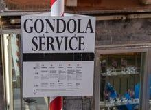 Gondola znak zdjęcia royalty free