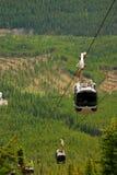 Gondolas. In the Rocky Mountains (Banff, Alberta Royalty Free Stock Photography