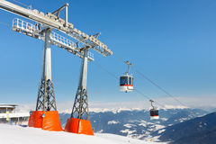 Gondolas at Alpine Ski Resort Stock Images