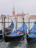Gondolas. On the background of the Cathedral Royalty Free Stock Images
