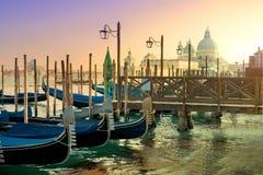 Gondolas and basilica Royalty Free Stock Image
