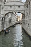 Gondolas boating by The Bridge of Sighs Royalty Free Stock Images