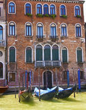 Gondolas at  Brick Building Stock Images