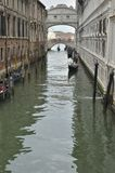 Gondolas at the Bridge of Sighs Royalty Free Stock Images