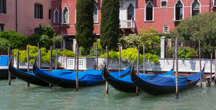 Gondolas and Building in Venice Royalty Free Stock Photo