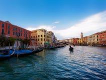 Gondolas on Canal Grande Stock Photos