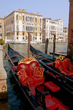 Gondolas at Canal Grande in Venice. Royalty Free Stock Images