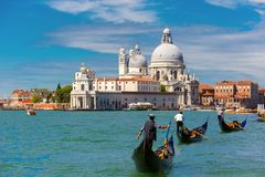 Gondolas on Canal Grande in Venice, Italy Royalty Free Stock Image