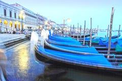 Gondolas, Canal Grande, Venice, Veneto, Venetia, Italy Stock Image