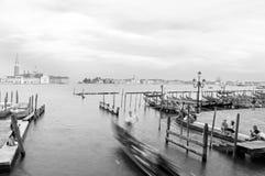 Gondolas, Canal Grande, Venice, Veneto, Venetia, Italy Stock Photo