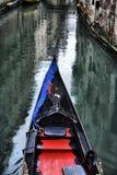 Gondolas on canal Stock Photography