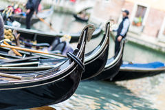 Gondolas on Canal Royalty Free Stock Images