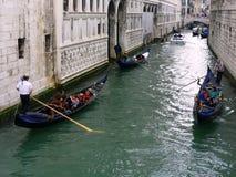 Gondolas in Canal, Venice,  Italy Stock Photos
