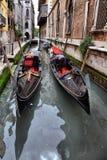Gondolas on canal in Venice Royalty Free Stock Photo